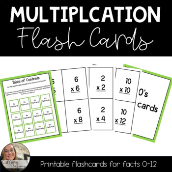 Multiplication Flashcards by Number