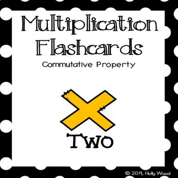 Multiplication Flashcards using Commutative Property - Fact Focus: Two
