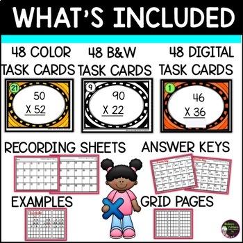 Multiplication 2 digit times 2 digit (24 cards)