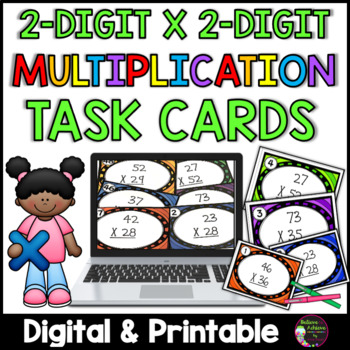 Multiplication Task Cards (2 digit times 2 digit)
