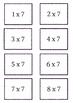Multiplication Flashcards with Spring Flowers
