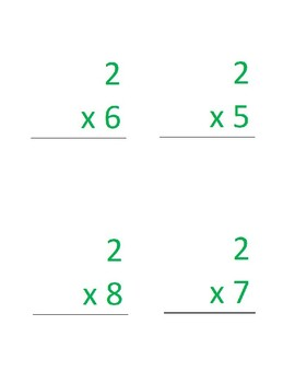 Multiplication Flashcards with Strategies and Visuals for 2 through 9