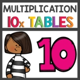 Multiplication Flip Book for Ten Times Tables