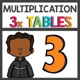 Multiplication Activities Flip Book Three Times Tables