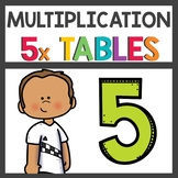 Multiplication Activities and Flip Book for Fives Times Tables