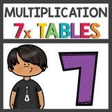 Multiplication Flip Book and Activities for Seven Times Tables