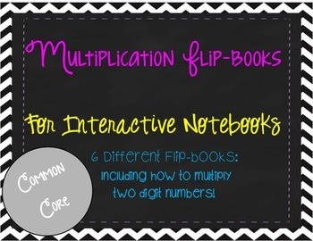 Multiplication Flip-Books for Interactive Notebooks (Printables)
