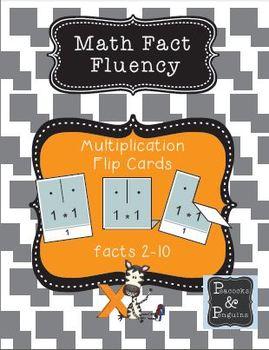 Multiplication Flip Cards - Math Fact Fluency