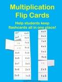 Multiplication Flip Cards