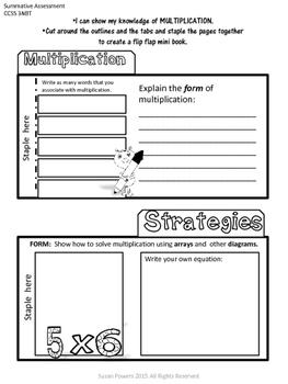 Multiplication Flip Flap Book Interactive IB PYP Math Activity