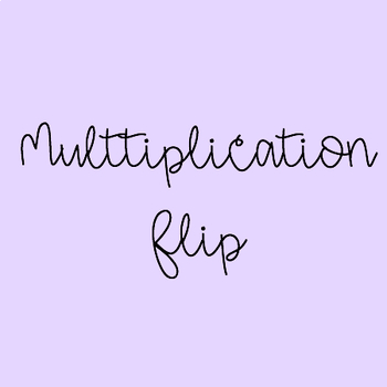 Multiplication Flip Game - Black and White Version