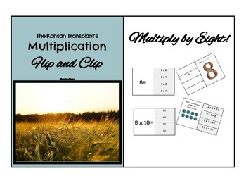 Multiplication Flip and Clip Game Cards x 8
