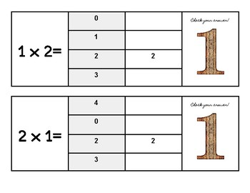 Multiplication Flip and Clip Game Cards- x ONE