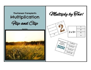 Multiplication Flip and Clip Game Cards - x TWO