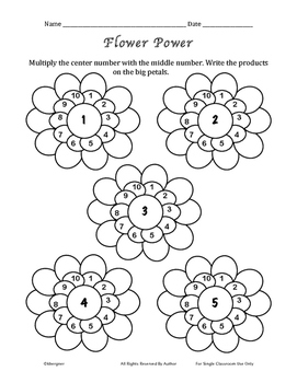 Multiplication Flower Power