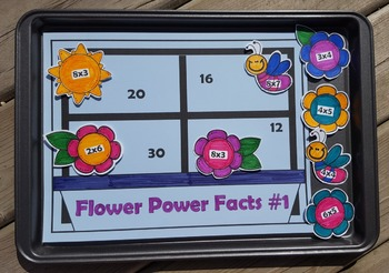 Multiplication Flower Power Facts {Math Center}
