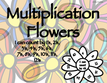 Multiplication Activity - No Prep Flower Making