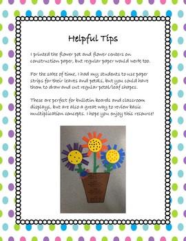 Spring Math Multiplication Flowers