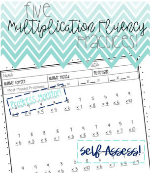 Multiplication Fluency - 5 Practice Sheets!!