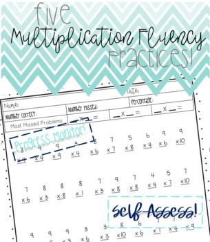 Multiplication Fluency - 5 Practice Sheets!!