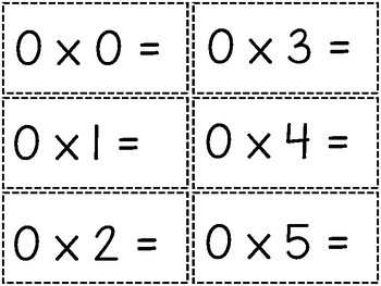 Multiplication Fluency Cards