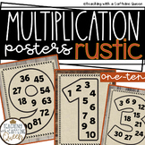 Multiplication Posters Rustic and Neutral Color Chart for Fact Fluency