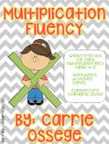 Multiplication Fluency Facts #1-12