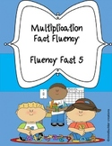 Multiplication Fluency Fast 5 !