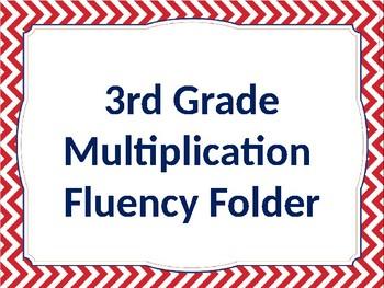 Multiplication Fluency Folder