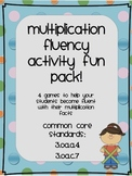 Multiplication Fluency Fun Pack!