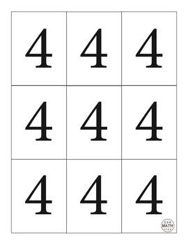 Multiplication Fluency Game - Fours