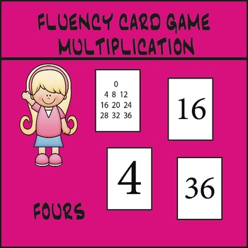 Multiplication Fluency Game - Fours