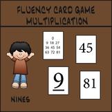 Multiplication Fluency Game - Nines