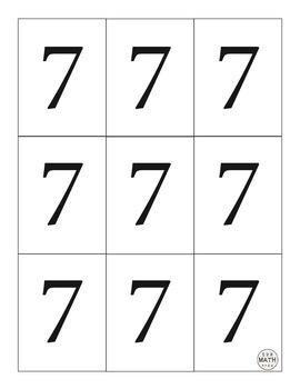 Multiplication Fluency Game - Sevens