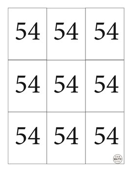 Multiplication Fluency Game - Sixes