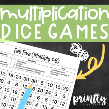 Multiplication Fluency Dice Games