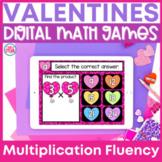 Multiplication Fluency Games Google Classroom | Valentine's Day