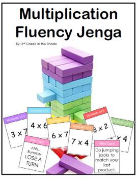 Multiplication Fluency Jenga