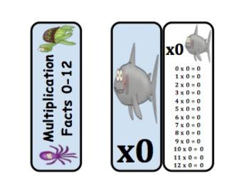 Multiplication Fact Rings (Ocean Themed)