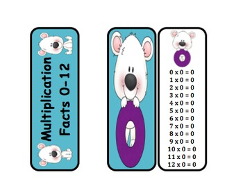 Multiplication Fact Rings (Polar Bear Themed)