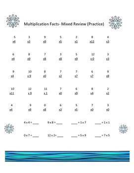 Multiplication Fluency (Math Facts)
