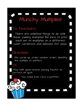 Multiplication Fluency Munchy Multiples