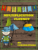 Multiplication Fluency No Prep ~ Camping Theme Math Center