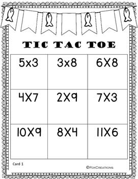 Multiplication Fluency No Prep ~ Camping Theme Math Center