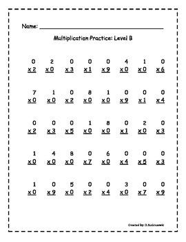 Multiplication Fluency Pack