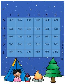 Multiplication Fluency Printable Fluency Activity