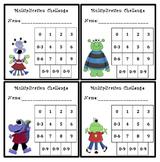 Multiplication Fluency Progress Chart (Monster Themed)