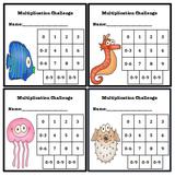 Multiplication Fluency Progress Chart (Ocean Themed)