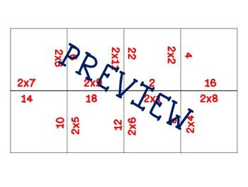 Multiplication Fluency Puzzles