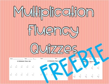 FREEBIE - Multiplication Fluency Quiz - Factors 2, 5, & 10